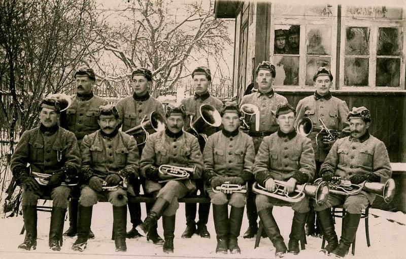 Полковой оркестр.